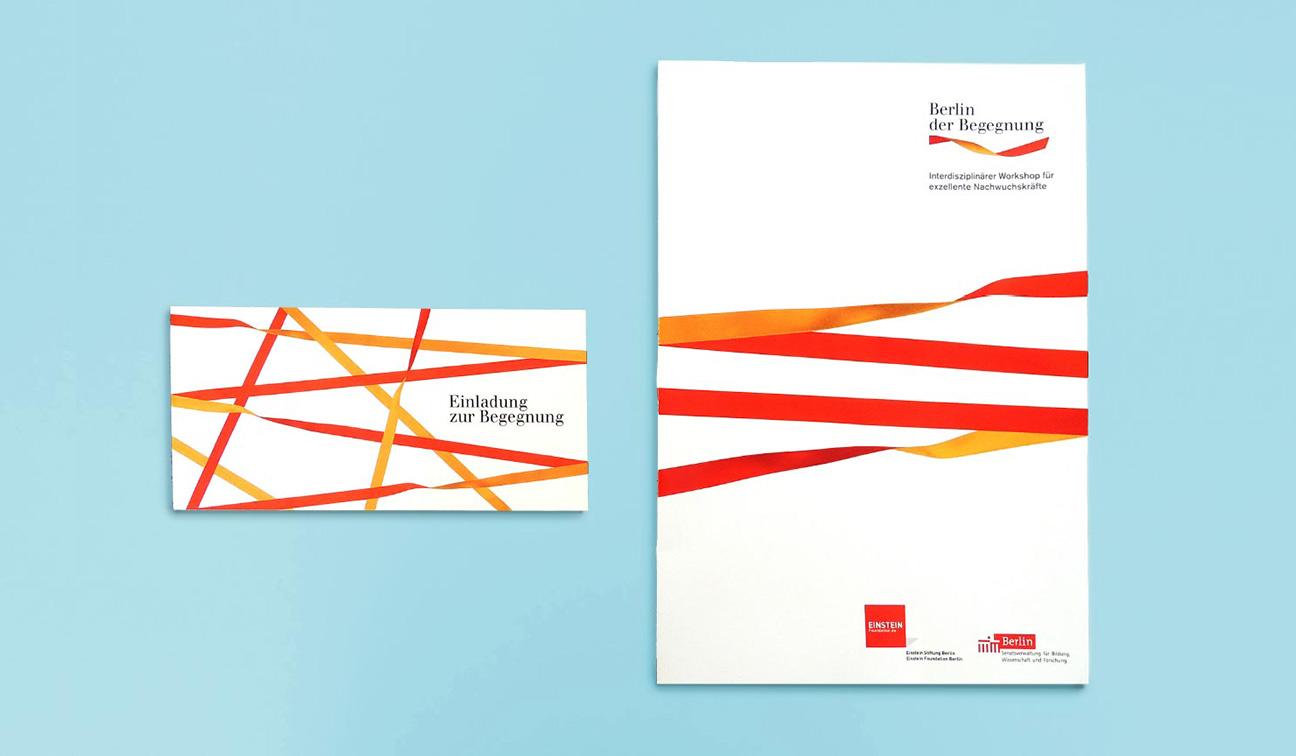 Buchgestaltung Design Einladung Mappe