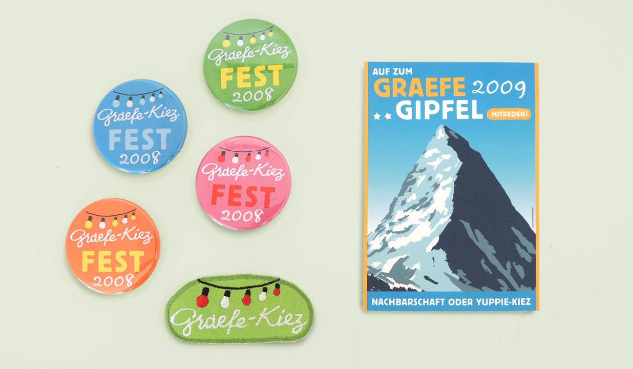 Graefekiez Grafikdesign Logodesign Button Flyer